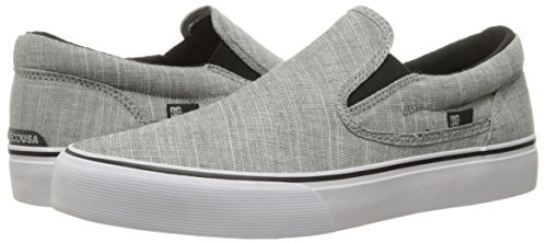 DC Men's Trase Slip-on Tx Se Skateboarding Shoe, Charcoal Grey, 8 D US
