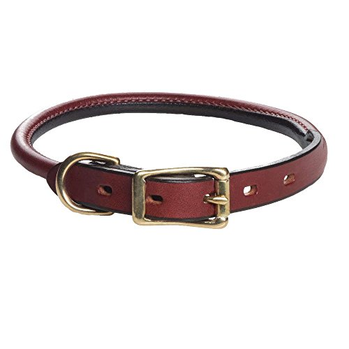 Mendota Pet Standard Rolled Dog Collar, 3/4-Inch by 20-Inch, Chestnut