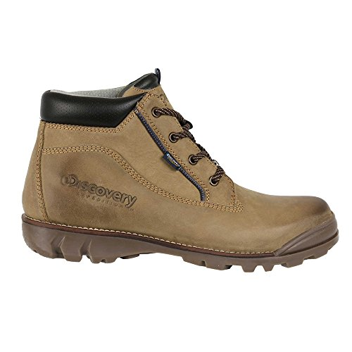 Discovery Expedition Mens Short Lace-up Leather Crop Boot w/Traction Sole Green 8 by Discovery Expedition