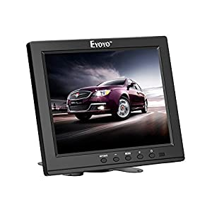 Eyoyo 8 Inch HDMI Monitor 1024x768 Resolution Display Portable 4:3 TFT LCD Mini HD Color Video Screen Support HDMI VGA BNC AV Ypbpr Input for PC CCTV Home Security