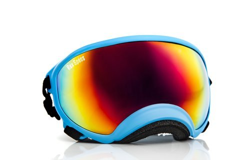 Rex Specs Dog Goggles Large Blue Frame / Red Revo Lens UV400 Protective Eye Wear - Frames Revo