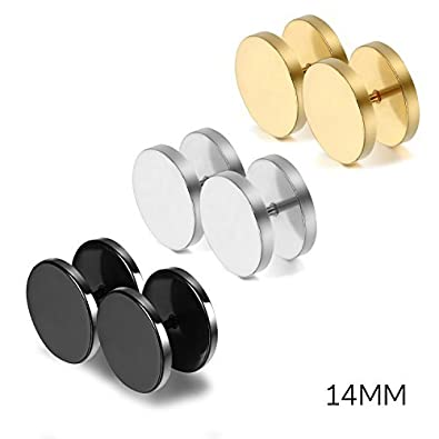 Oidea 6pcs Assorted Color Stainless Steel Screw Earring Studs for Men Women,Hypoallergenic O030054-CA