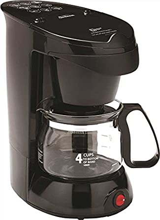 Amazon.com: Sunbeam 3278 4 taza cafetera, negro, 1