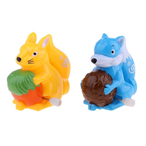 (MagiDeal Traditional Wind Up Clockwork Toys Cartoon Squirrel Animal Model Toy Gifts)