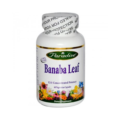 - Paradise Herbs Banana Leaf - Healthy Blood Sugar Levels - Gluten Free - 60 Vegetarian Capsules (Pack of 2)