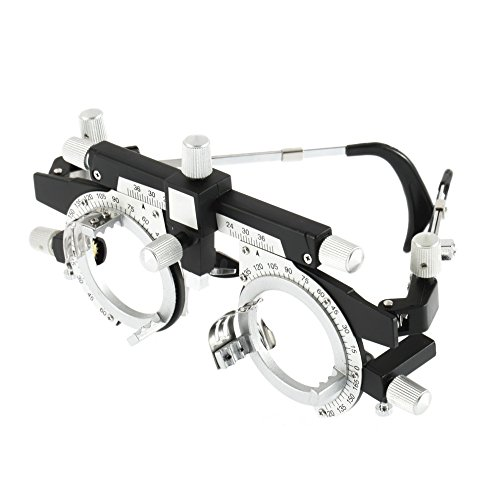 Optometry Optician Fully Adjustable Trial Frame Optical Trial Lens Frame Lightweight Black +Silver Visual Test Equipments