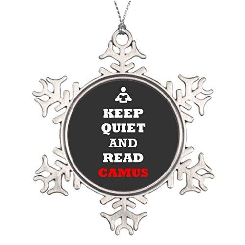 Ideas for Decorating Christmas Trees Albert Camus Existentialism Custom Christmas Snowflake Ornaments 3 inch