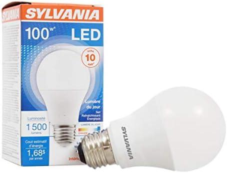 مصباح إضاءة Led بمصباح 100 وات مصباح A19 عبوة واحدة إضاءة نهارية موفرة للطاقة وعمر طويل قاعدة متوسطة فعالة 14 وات 5000 كلفن Amazon Ae