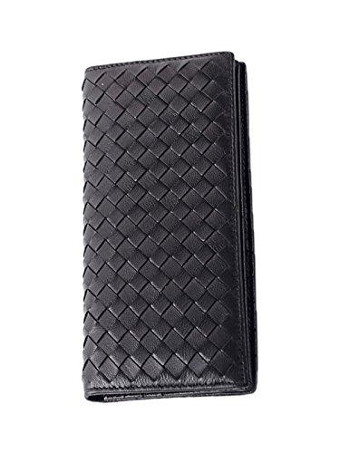 zando-mens-diamond-pattern-premium-rfid-protection-slim-bifold-leather-wallet-black