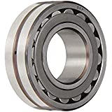 SKF Spherical Radial Bearing, Straight Bore, Lubrication Groove, 3 Hole Outer Ring, Steel Cage, Normal Clearance