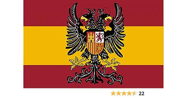 Durabol Bandera de España con Águila Bicéfala 150X90 CM Flag Satin: Amazon.es: Jardín