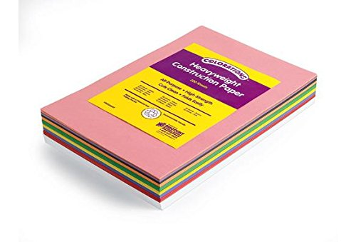 Colorations BIGSMART 12'' x 18'' Construction Paper Smart Pack (Pack of 300)