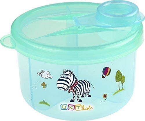 Milchpulver - Portionierer mit 3 Fächern Milchpulverspender Milchpulverbox Hippo blau