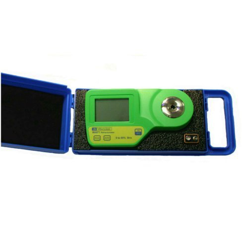 Milwaukee Instruments MA871-BOX Digital Brix Sugar Refractometer for General Measurements with Protective Padded by Milwaukee