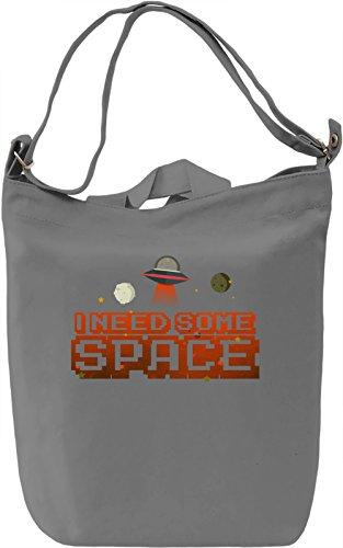 I Need Some Space Borsa Giornaliera Canvas Canvas Day Bag  100% Premium Cotton Canvas  DTG Printing 