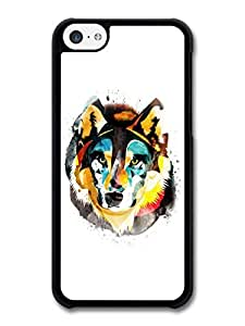 MMZ DIY PHONE CASEWatercolour Wolf Illustration On White Background case for iphone 5/5s