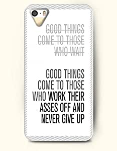 iPhone 5 5S Case OOFIT Phone Hard Case ** NEW ** Case with Design Good Things Come To Those Who Work Their Asses Off And Never Give Up- Proverbs Of Life - Case for Apple iPhone 5/5s