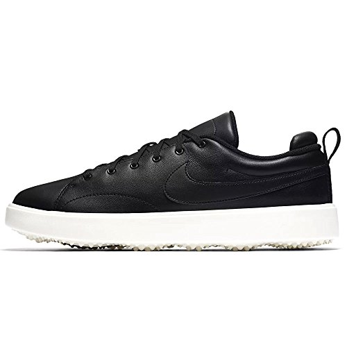 Nike Course Classic Spikeless Golf Shoes 2017 Black/Sail Medium 7.5 Classic Spikeless Golf Shoe