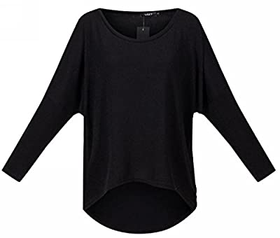 UGET Women's Sweater Casual Oversized Baggy Off-Shoulder Shirts Batwing Sleeve Pullover Shirts Tops