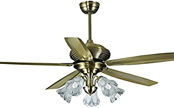 Hoja de bronce, hierro, gran viento lámpara ventilador, sala de ...