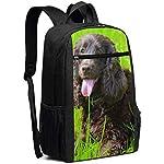 Irish Water Spaniel Multiuses Fation Backpacks School Bookbag Shoulder Bag Casual Daypack Laptop Bag 17 Inch Irish Water Spaniel 6
