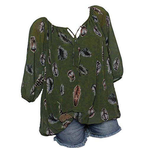 Women Plus Size Casual Tops, Print V-Neck Half Sleeve T Shirt, Sexy Off Shoulder Lace up Front Blouses Tee Shirts Green - Guess Striped Blazer