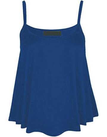 6dd8970402f5d Hotkey Womens Camisoles Plus Size Fashion Womens Solid O-Neck Vest Tank  Casual Sleeveless Camis