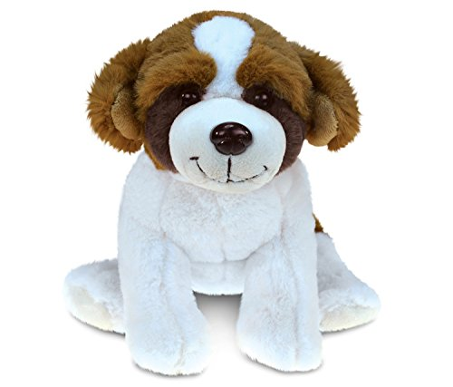 Puzzled St. Bernard Dog Super-Soft Stuffed Plush Cuddly Animal Toy - Animal Theme - 7.5 INCH - Unique Huggable Loveable New Friend Gift - Item #5345 ()