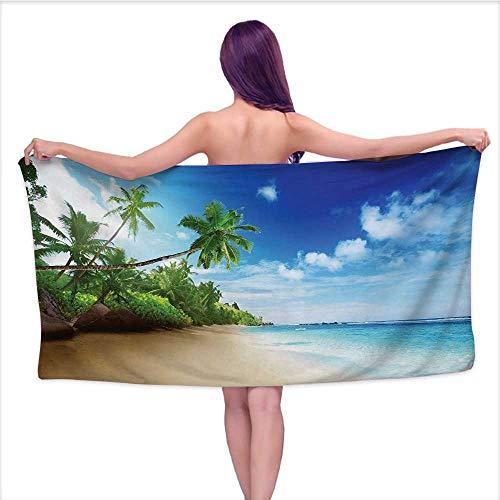 Bensonsve White Bath Towels Bulk Ocean,Beach Sunset Tranquil