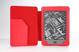 MoKo Cover Case for Amazon Kindle Touch, RED