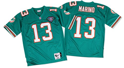 best sneakers 9059d 01cc6 mitchell and ness dan marino jersey miami dolphins 13 white ...