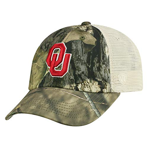Top of the World Oklahoma Sooners Official NCAA Adjustable Remote Mossy Oak and Mesh Hat Cap 369310