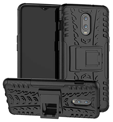 OnePlus 6T Case SunRemex Durable Armor Full Body Protective Resilient Shock Absorption Kickstand Design OnePlus 6T Phone (Black)