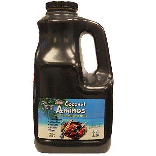 Coconut Secret Coconut Aminos - 128 fl oz - Low Sodium Soy Sauce Alternative, Low-Glycemic - Organic, Vegan, Non-GMO, Gluten-Free, Kosher - Keto, Paleo, Whole 30-768 Servings