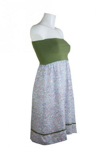 fashion4EVA Bandeaukleid grün/hellblau