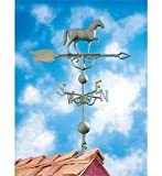 14''L x 11 1/4''H 46'' Horse Traditional Directions Weathervane, Verdigris