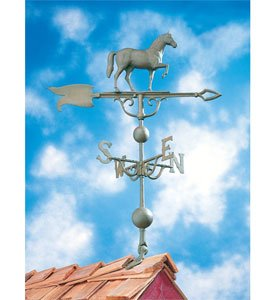 14''L x 11 1/4''H 46'' Horse Traditional Directions Weathervane, Verdigris by Whitehall