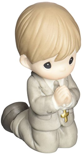 Precious Moments,  Remembrance Of My First Holy Communion, Boy, Bisque Porcelain Figurine, 133025 -