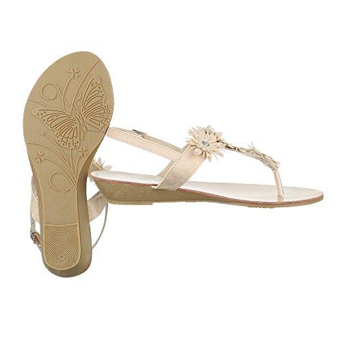 Sandalias de Ital Sintético Material de mujer vestir Beige para Design TH5HqF