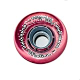 Sure-Grip Motion Outdoor Roller Skate Wheels (Clear Pink, 78A Hardness - 62mm)