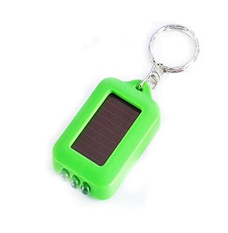 Negro R 10 X Mini Linterna 3 LED Energia Solar Recargable con Llavero TOOGOO