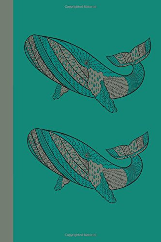 Sketchbook: Whales (Green) 6x9 - BLANK JOURNAL NO LINES - unlined, unruled pages (Oceans and Fish Sketchbook Series)