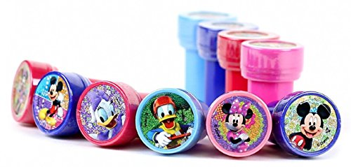Disney Mickey And Minnie Club House Self-Inking Stamps / Stampers Party Favors (10 Counts) (Stamp Club)