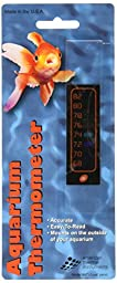 Amer Thermal Instruments Liquid Crystal Vertical Aquarium Thermometer, Small