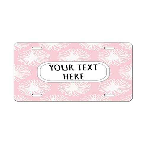 (Aluminum Car License Plate Custom Pink and White Pitter Pattern Style22)