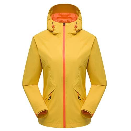 Impermeabili Cappuccio In Yellow Da Casual Cappotto Traspiranti Autunno Esterni Giacche Per Monospalla Con E Jingrong Donna EqWcIaOcw