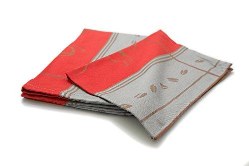 ZOLLNER® 5er Set Geschirrtücher 50x70 cm rot , in weiteren Farben erhältlich,in Gastronomiequalität, Serie