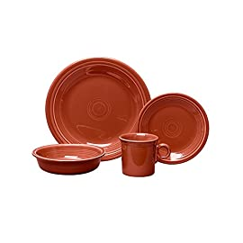 "Fiesta Place Setting, 4-Piece 10 Set includes: 10.5""W dinner plate, 7.25""W salad plate, 19-oz. capacity bowl, 10.25-oz. capacity mug Safe to use in the oven, microwave and dishwasher Other coordinating accessory pieces sold separately"