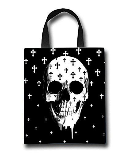 Gothic Skull Beach Tote Bag - Toy Tote Bag - Large Lightweight Market, Grocery & Picnic by Linhong
