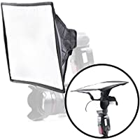 Movo MP-LB9 10x14 Speedlight Fabric Flash Softbox Diffuser with Roll-Up Windows for Fill Light/Bounce Control - Universal Design Fits Most Flashes